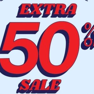 50% OFF CLOSET BLOWOUT